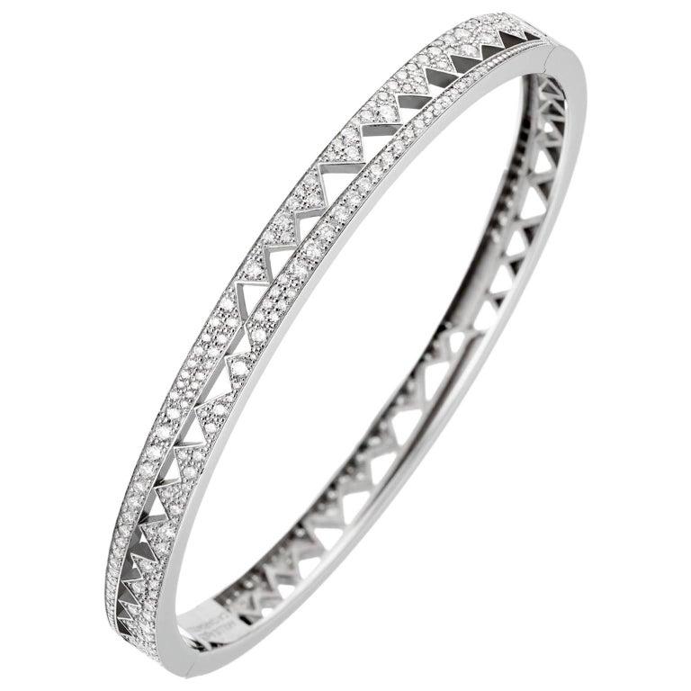 Akillis Capture Me Bracelet 18 Karat White Gold White Diamonds For Sale