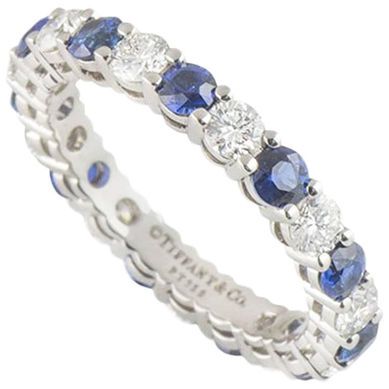 Tiffany & Co. Diamond and Sapphire Eternity Ring