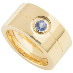 Cartier Gold Sapphire Band Ring