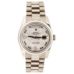 Rolex Presidential White Gold Day Date Automatic Wristwatch