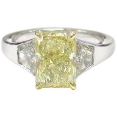 Canary Diamond 2.12 Carat FLY+ SI1 Three-Stone Engagement Ring
