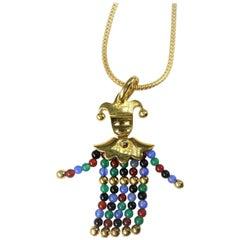 Pomellato Harlequin Gemstone Gold Pendant