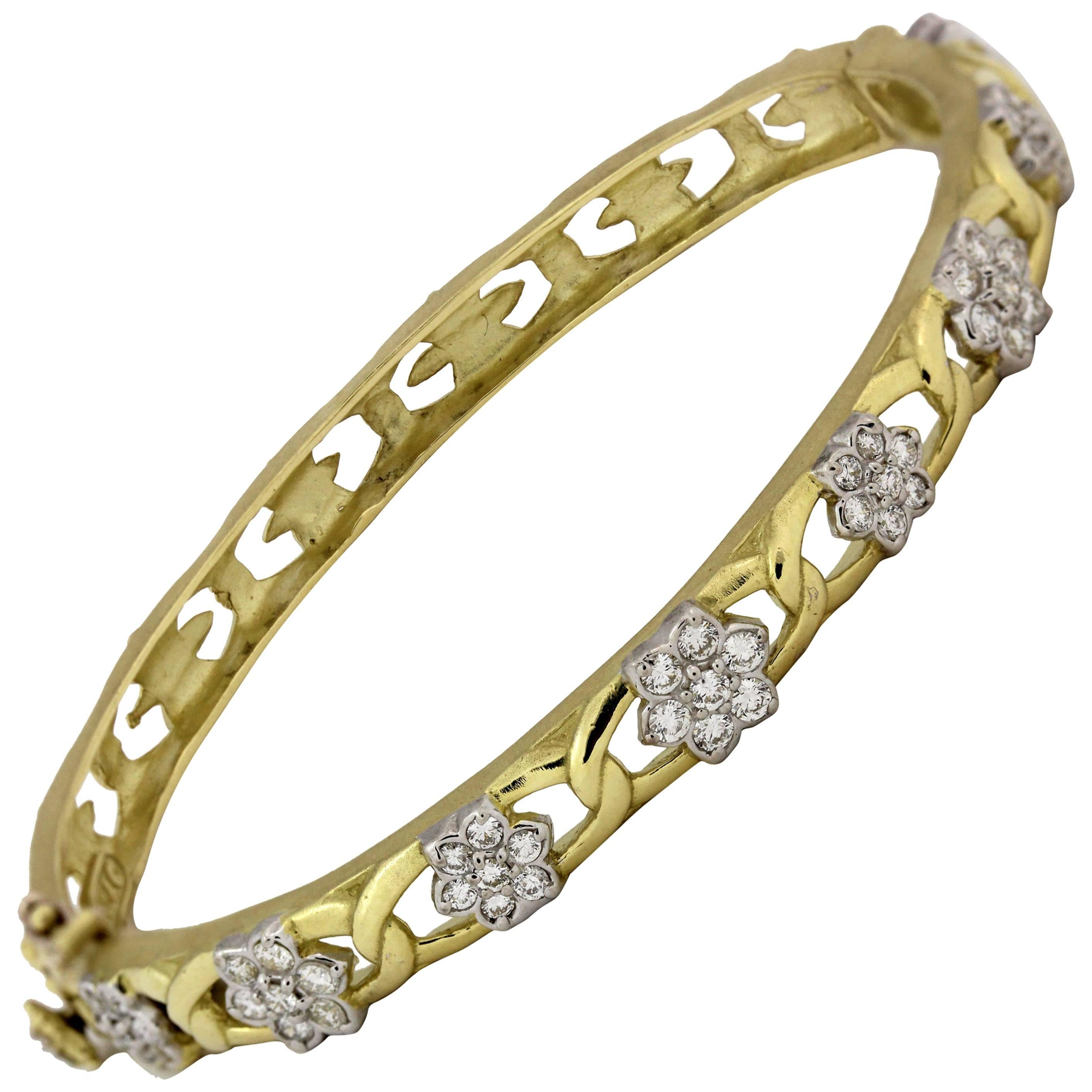 bangle buy anne bracelet bracelets square white half insta online yellow gold bangles diamond stackable products