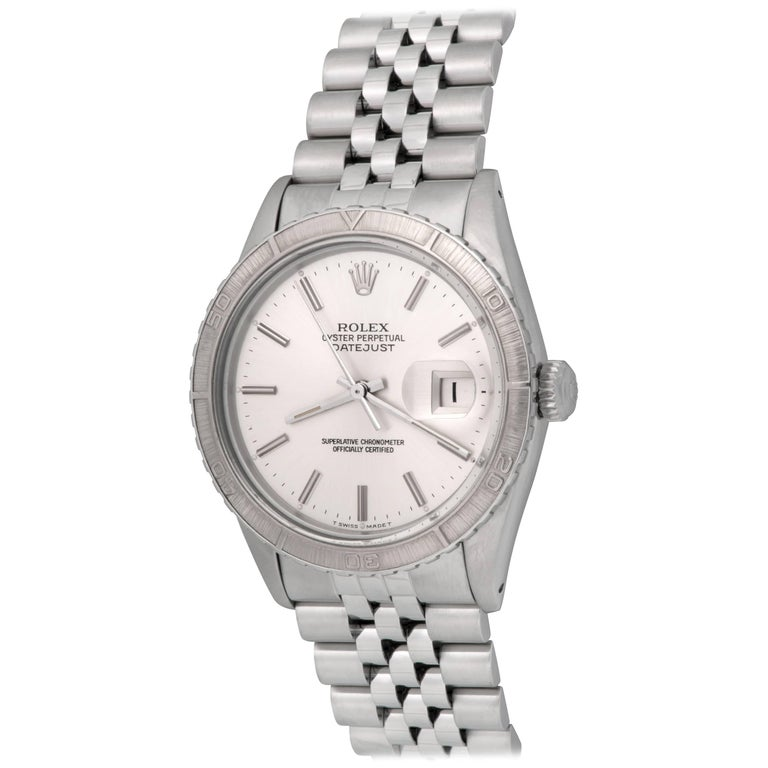 Rolex Stainless Steel Datejust Automatic Wristwatch Ref 16250
