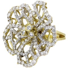 Stambolian Gold Diamond Flower Ring