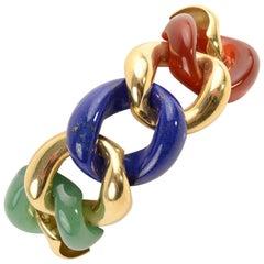 Seaman Schepps Classic Link Multistone Bracelet