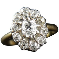 Engagement Edwardian Antique Ring with Diamonds 1.20 Carat