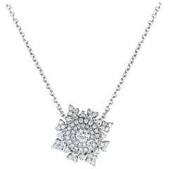 Nadine Aysoy Petite Tsarina 18 Karat White Gold and Diamond Necklace