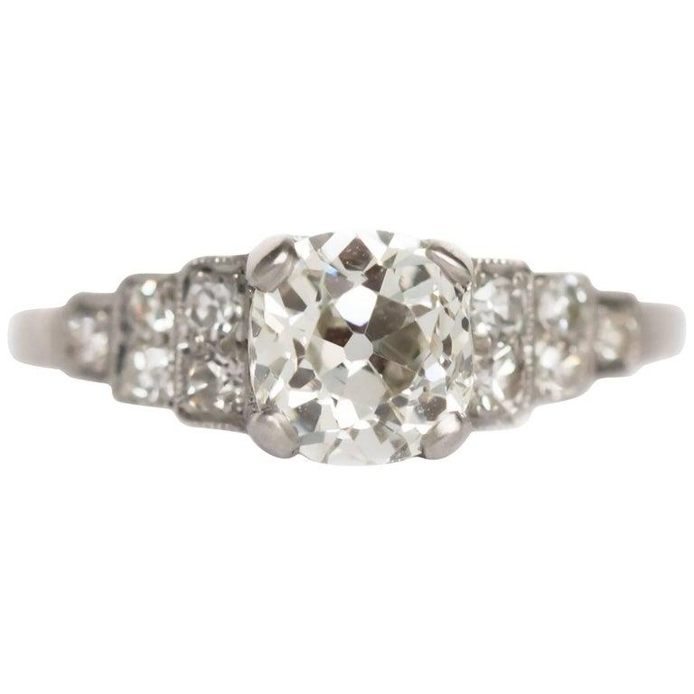 1.17 Carat Diamond Platinum Engagement Ring
