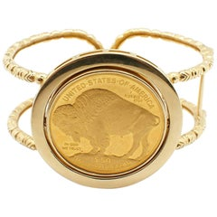 US Liberty $50 Buffalo Coin Cuff Bracelet