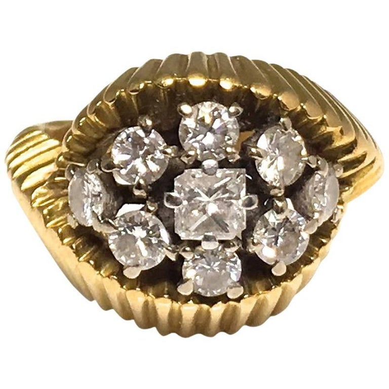 Cartier 1960s Gold and Diamond Ring