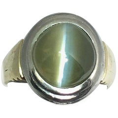 Chrysoberyl Cats Eye Gents Ring, circa 1960s