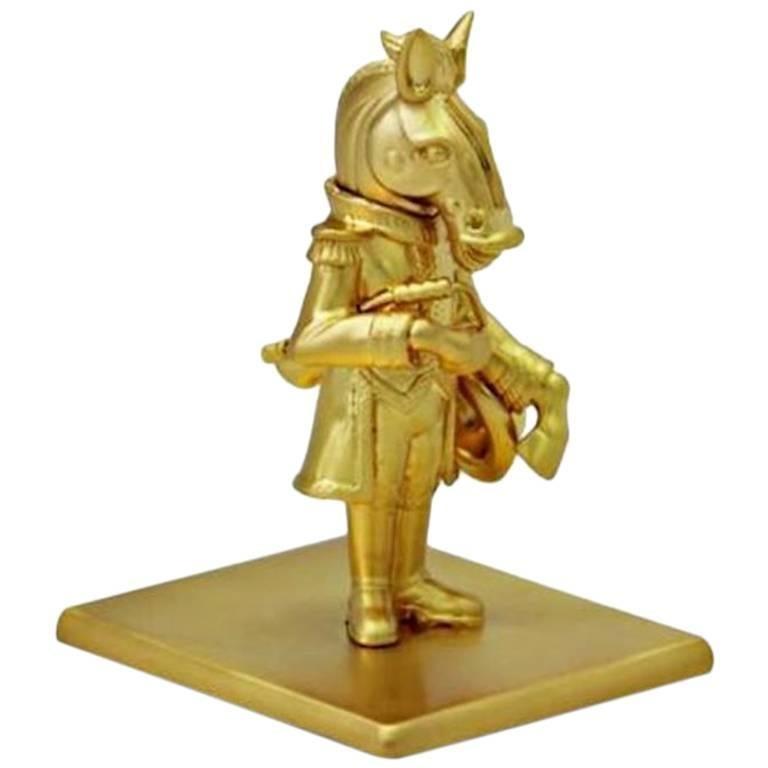 Antique Gold-Plated Bronze Han Horse by John Landrum Bryant