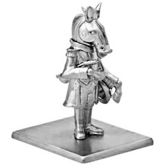 Antique Silver-Plated Bronze Han Horse by John Landrum Bryant