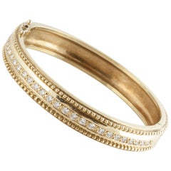 Doris Panos 18 Karat Diamond Bangle