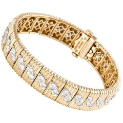 Bondanza Platinum 18 Karat Diamond Bracelet