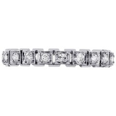 Round Brilliant Diamond Vintage Band