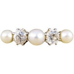 Antique Diamond and Pearl 18 Carat Gold Ring