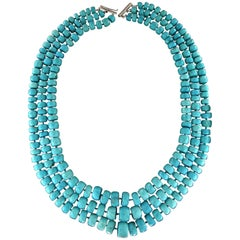 Turquoise Multi-Strands Necklace