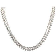 42 Carat Diamond Platinum Opera Necklace High Couture