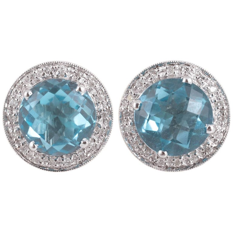 finish sterling tone stud deep bright gems silver york gem bold teal chunky rueb in and crystal jewellery drop sea cerulean earrings blue fashion sale
