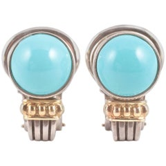 """""""Caviar"""" by """"Lagos"""" Turquoise Earrings"""