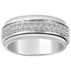 18 Karat White Gold Piaget Possession Ring Set with Diamonds