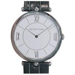 Van Cleef & Arpels Pierre Arpels White Gold Manual Wind Wristwatch