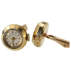 Seaman Schepps 14 Karat Cufflinks with Watch