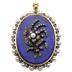 Early 20th Century Lapis Lazuli Pendant