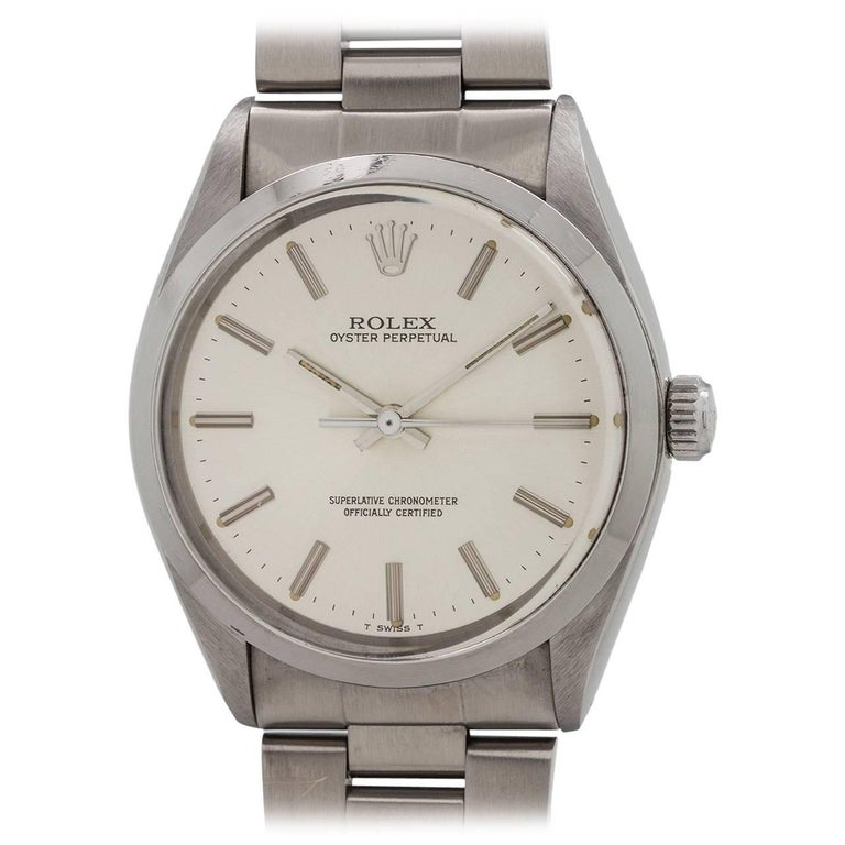 Rolex Stainless Steel Oyster Perpetual self winding wristwatch, circa 1985