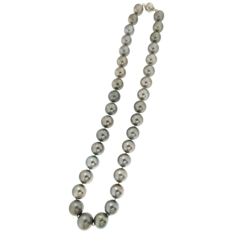 Cultured Tahiti Pearls Strand Rope Necklace
