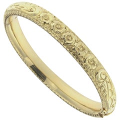 Chiseled Bracelet Yellow Gold 18 Karat