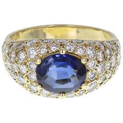 Vintage Sapphire Diamond Bombé Ring