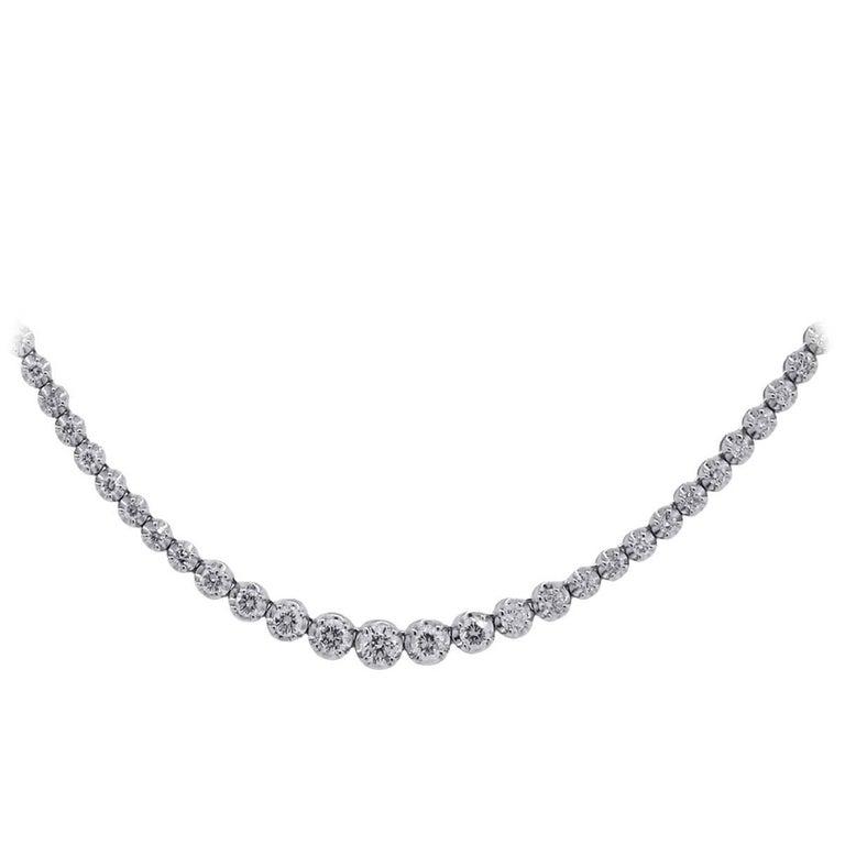 2 Carat Graduated Diamond Tennis Necklace