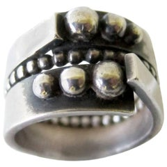 James Parker Sterling Silver San Diego Studio Modernist Ring