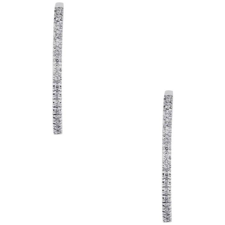 1 Carat Diamond Inside Out Hoop Earrings