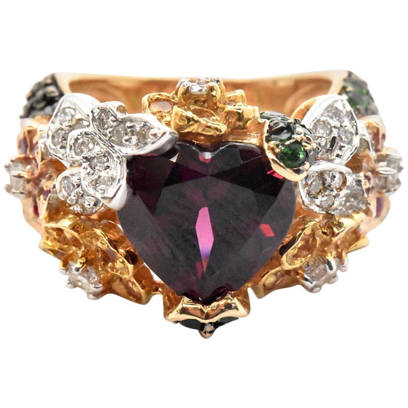 Snake Bones Butterfly Diamond Ring With Blue Topaz - UK J 1/2 - US 5 - EU 49 3/4 u2Wvvd8