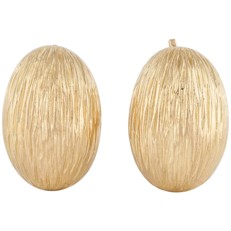 Tiffany & Co. Textured 18K Gold Earrings