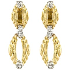 David Webb 18 Karat Dangly Earrings