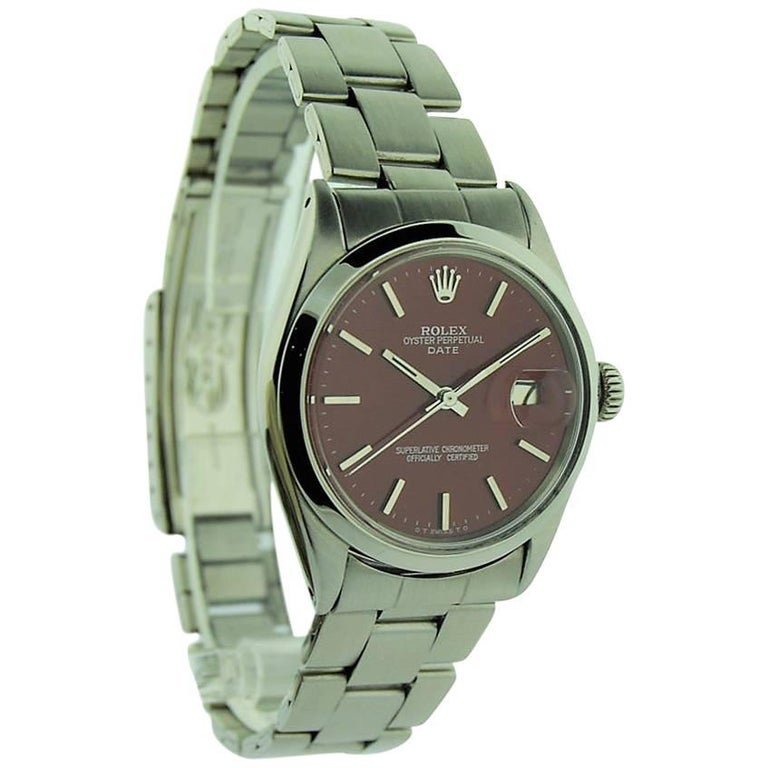 Rolex Stainless Steel Oyster Perpetual Date Custom Dial Perpetual Watch