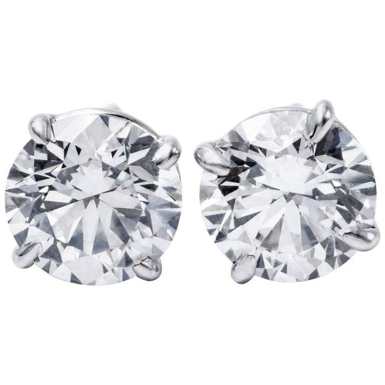 Diamond Studs Earrings 10.88 Carat GIA Certified, 18 Karat Handmade