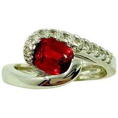 Spinel Diamonds Gold Ring