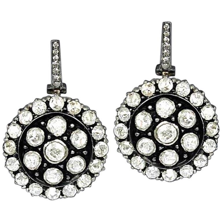 Victorian Style Diamond Dangling Earring