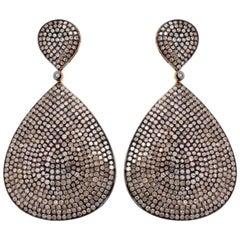 Diamond Earrings in 18 Karat Gold