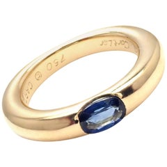 Cartier Ellipse Sapphire Yellow Gold Band Ring