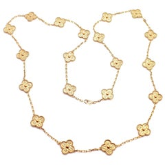 Van Cleef & Arpels Vintage Alhambra Gold 20 Motif Necklace