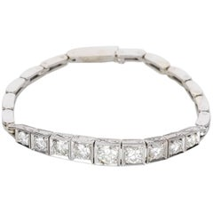 2.20ct Diamond Bracelet 9k White Gold