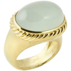 David Yurman Blue Quartz and Gold Signature Ring