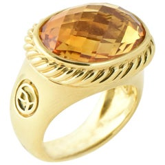 Yurman Citrine Signature Gold Ring